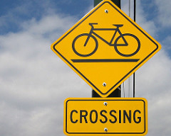 bicycle crossing sign