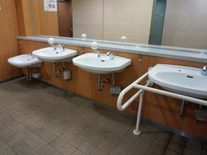 อ่างล้างมือรองรับเด็ก ผู้ใหญ่ ผู้ใช้วีลแชร์