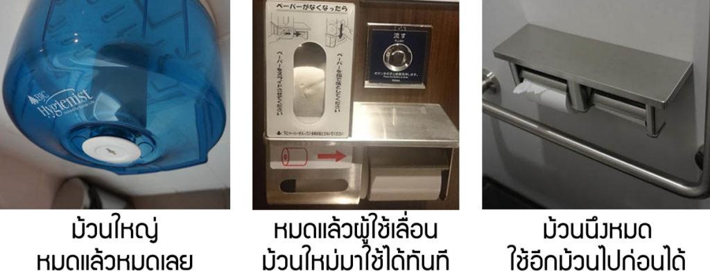 กระดาษชำระในห้องน้ำ มีม้วนสำรองดีกว่ามีม้วนเดียวใหญ่ ๆ อย่างไร
