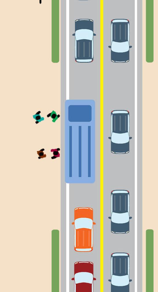 ป้ายรถเมล์แบบจุดจอดบนถนน