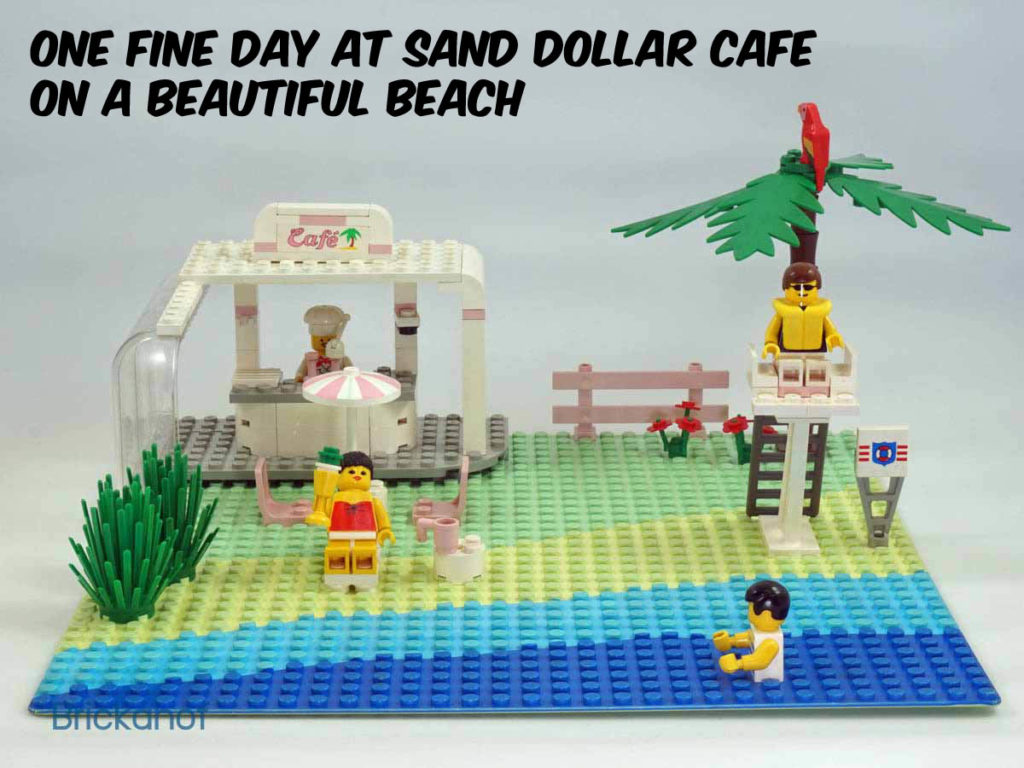 One fine day at the beach at Sand Dollar Cafe.